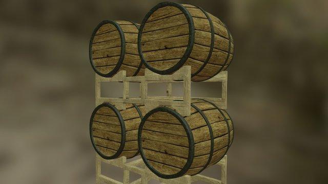 The Forest Exchange - BarrelRack 3D Model