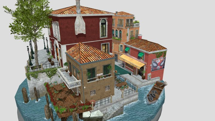 Thijs Stoffelen 1DAE14 City Scene 3D Model