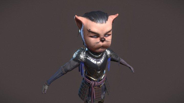 Cat Warrior 3D Model
