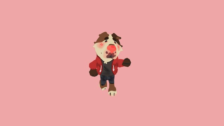 Buffer Idle Animation 3D Model