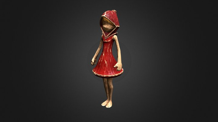 RedRidingHood Figurine 3D Model