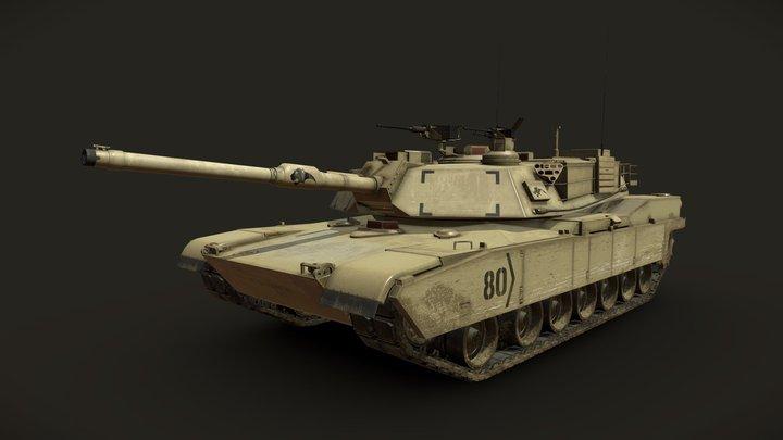 M1A2 Abrams Tank - Low Poly 3D Model 3D Model