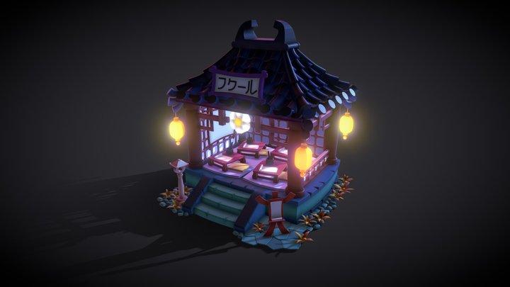 Night Fantasy Gazebo 3D Model