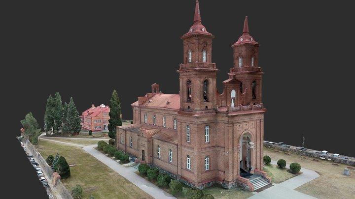 Panevėžio Šv. apaštalų Petro ir Povilo bažnyčia 3D Model