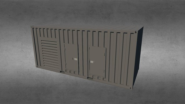 Container 20ft Generator 3D Model