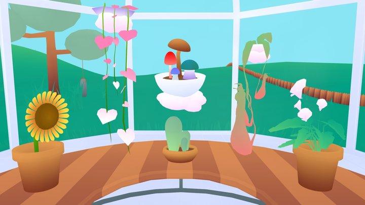 Prelude Garden Environment 3D Model