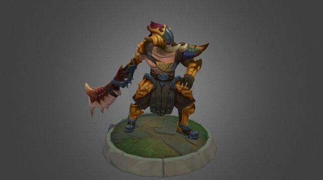 Beast Hunter Tryndamere 3D Model