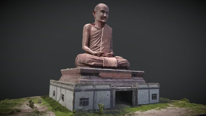 A temple in Asia 3D Model