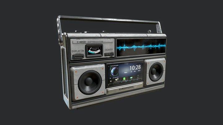 SciFi Retro Radio 3D Model
