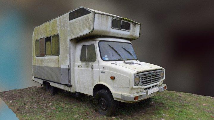Camping-car en ruine 3D Model