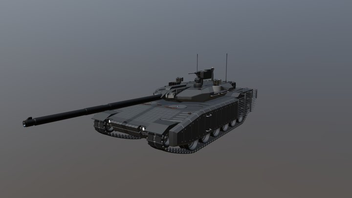 MBT-2020 Main Battle Tank 3D Model