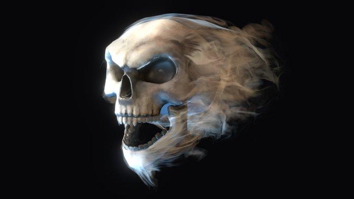Smoky Skull 3D Model