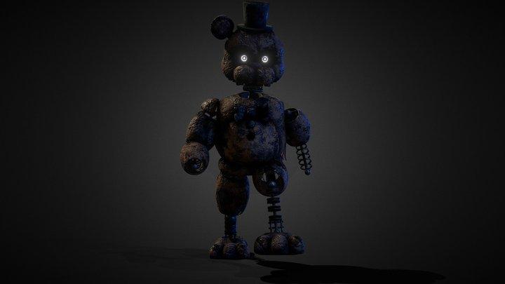 TJoC Ignited Freddy | New Walking Anim & Texture 3D Model