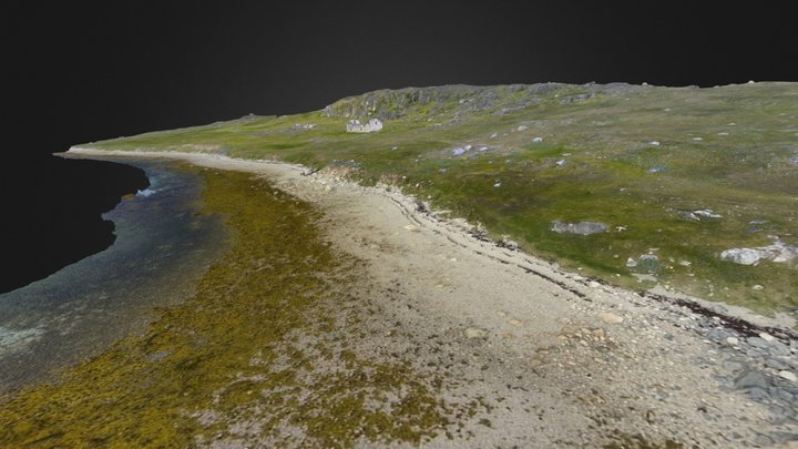 Coastal landscape - Hvalsey, Greenland 3D Model