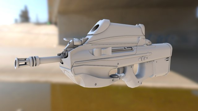 F2000 with scope 3D Model