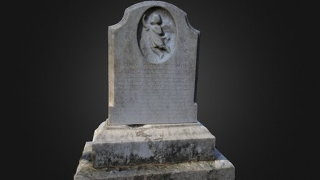 Indian Springs Angel Headstone 3D Model