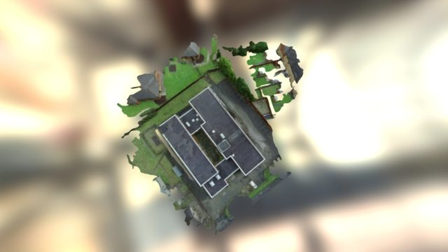 Video Roof Simplified 3d Mesh 3D Model