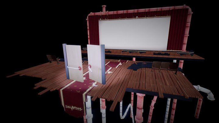 Aftermath: Abandoned Theater 3D Model