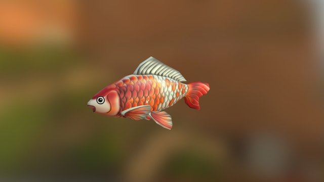 Cartoon Koi 3D Model