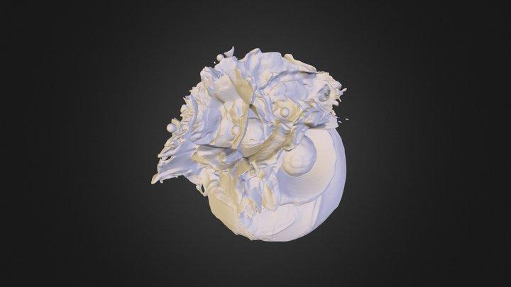 Stellar Winds isodensity contour, rho=1e-24 g/cc 3D Model