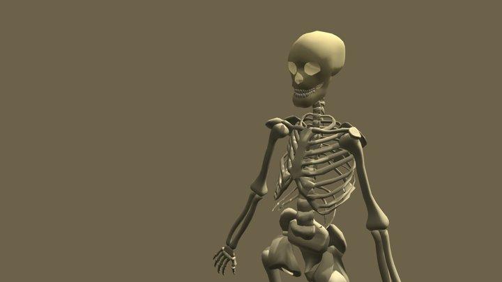 Low Poly Skeleton 3D Model