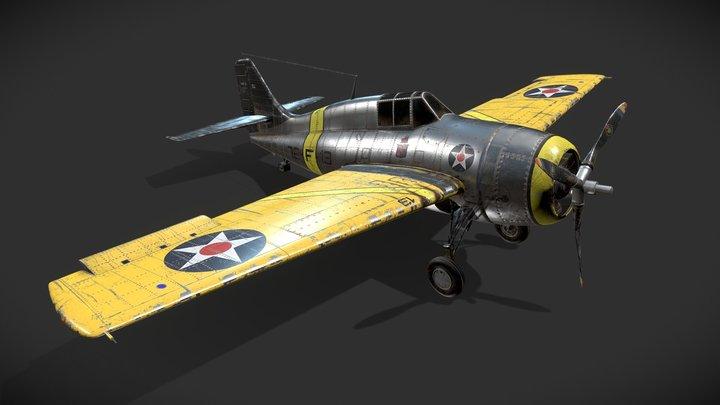 Grumman F4F-3 Wildcat  (In House Project) 3D Model