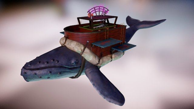 Willy's - Flying Whale Bar 3D Model