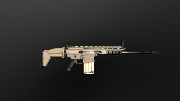 FN SCAR-H 17 3D Model