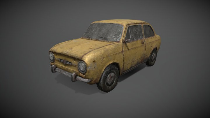 old rusty dirty car 3D Model