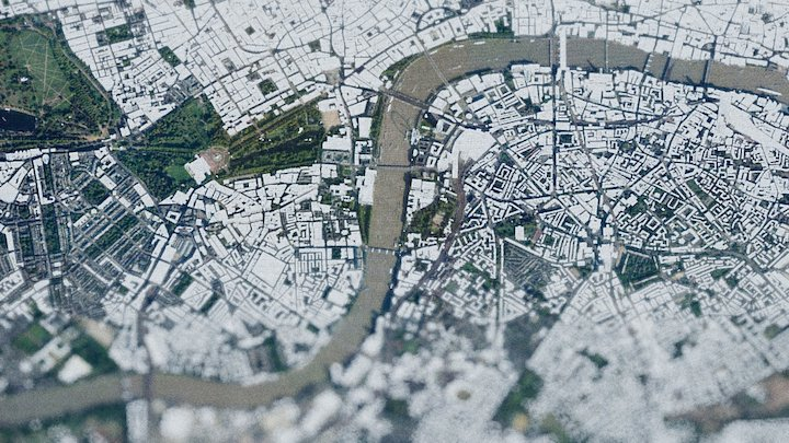 London Lidar from DEM Earth 3D Model