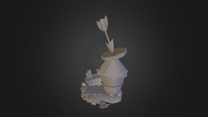 Cartoon Building 2 3D Model