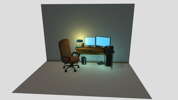 10 Items 3D Model