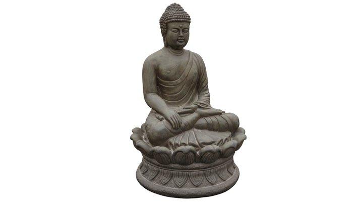 Earth Touching Buddha 3D Model