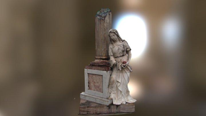 Escultura Virgen Llorando 3D Model
