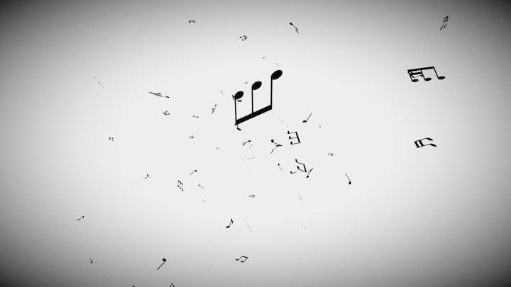 PFlow Practice - Music Spread 3D Model