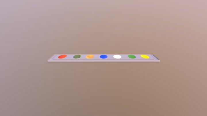 Watercolor Bed 3D Model