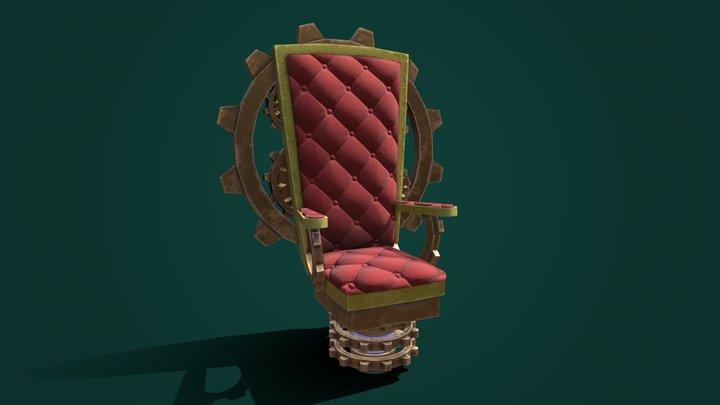Aristocrash - Steampunk Throne 3D Model