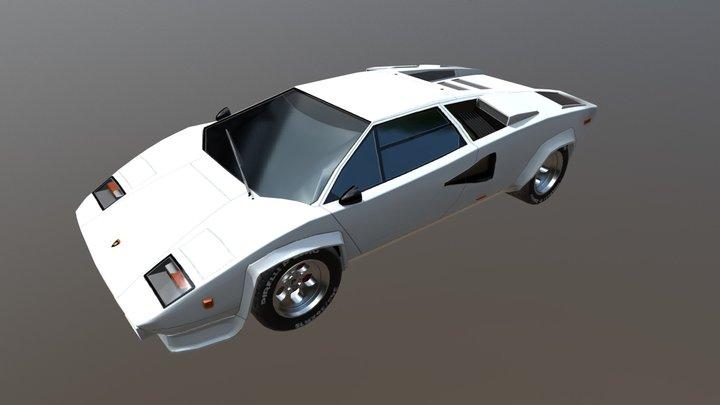 Lamborghini Countach 5000S 3D Model