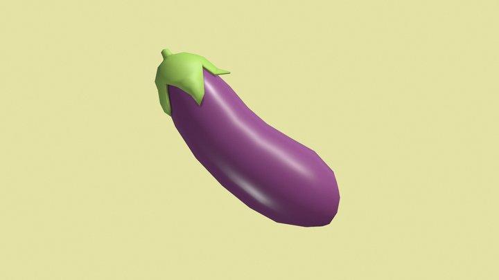 🍆 Eggplant emoji (Low poly) 3D Model