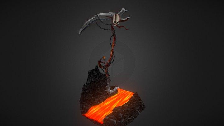 World of Warcraft Fantasy Weapon 3D Model