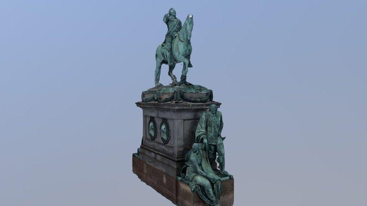 Gustav II Statue (Stockholm) 3D Model