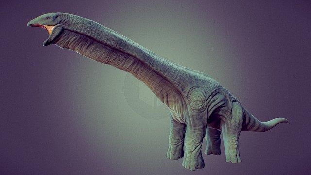 Sauropod Dinosaur 3D Model