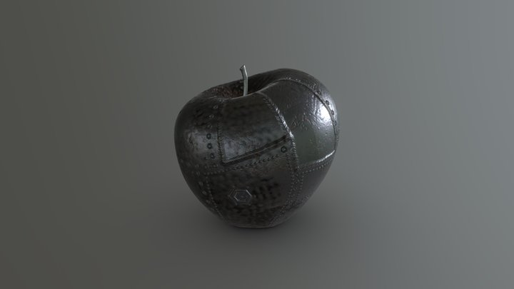 Metal Apple 3D Model