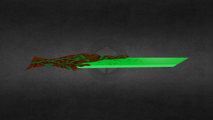 floral sword 3D Model