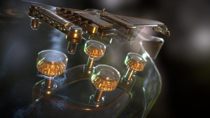 Glassy Gibson Guitar 3D Model