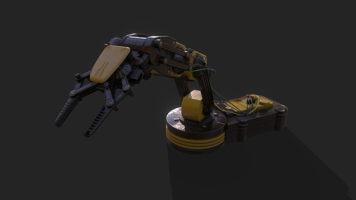 Desktop Mechanical Arm 3D Model