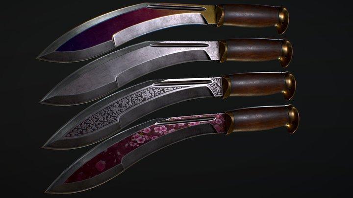 Kukri + Skins 3D Model