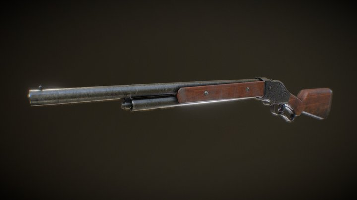 Winchester 1887 3D Model
