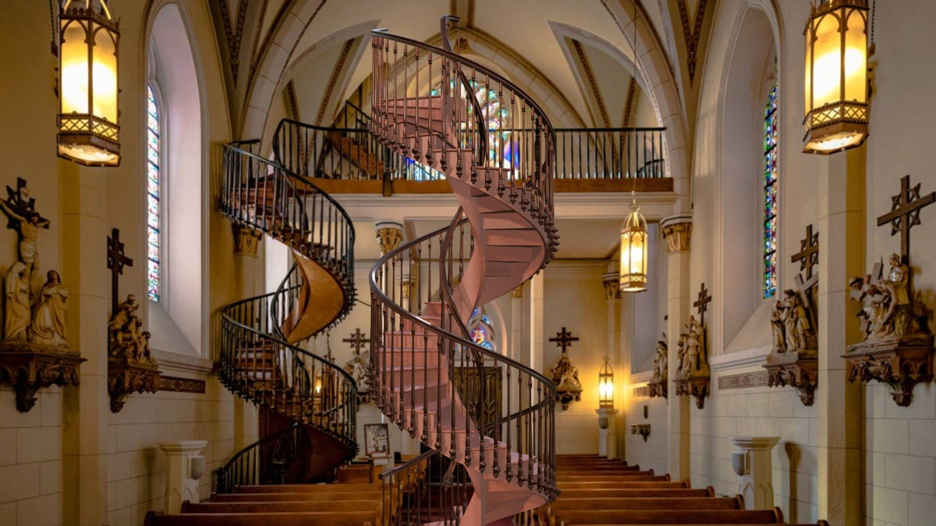 Loretto Chapel Staircase 3d Model By Staircon By Elecosoft Staircon Examples 3dexport 489efe2 Sketchfab