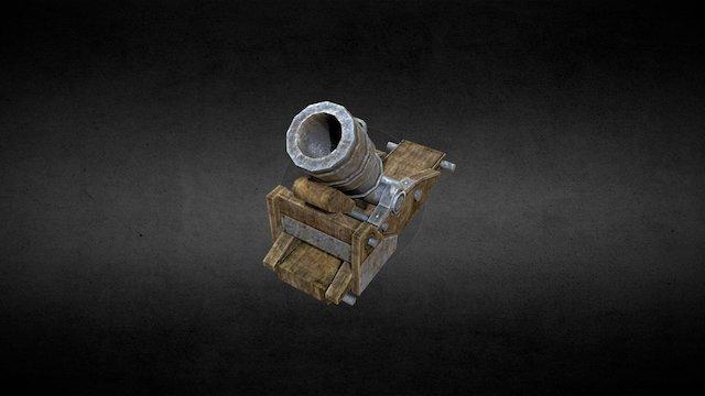 Naval mortar (low poly) 3D Model